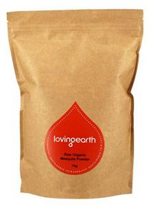 Loving Earth Raw Organic Mesquite Powder - 500g  Mesquite flour not only stabilises blood sugar but it also tastes great: sweet with a slightly nutty wild flavour and a hint of caramel. It blends well into smoothies or other drinks, especially those made with Cacao and Maca.