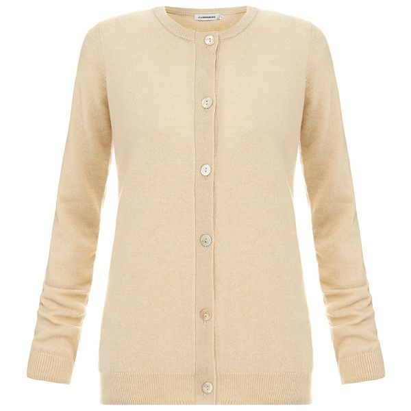J.Lindeberg Classic Button Down Cardigan ($80) ❤ liked on Polyvore featuring tops, cardigans, beige, long sleeve cardigan, beige cardigan, button down cardigan, wool cardigan and button up cardigan
