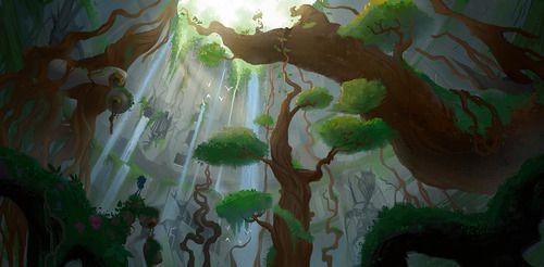 A rain forest underground