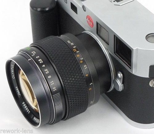 Olympus OM 55mm f/1.2 converted to Leica M (with rangefinder coupling)