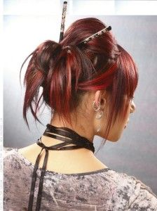 letest bun hair style with chopstick
