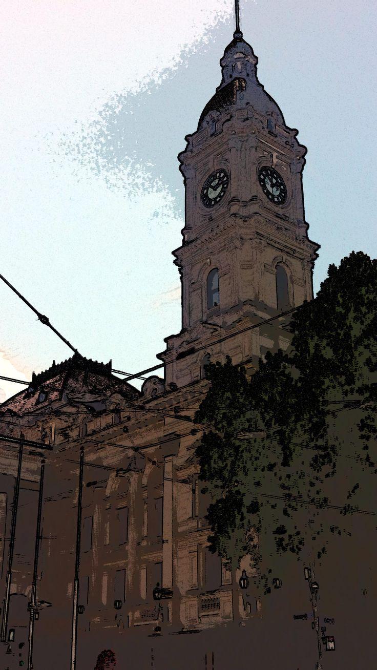 Melbourne Town Hall Tower - crn Collins & Swanston Streets - NE corner