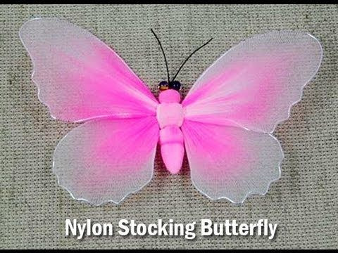 DIY: MARIPOSAS RECICLANDO MEDIA VELADA - YouTube