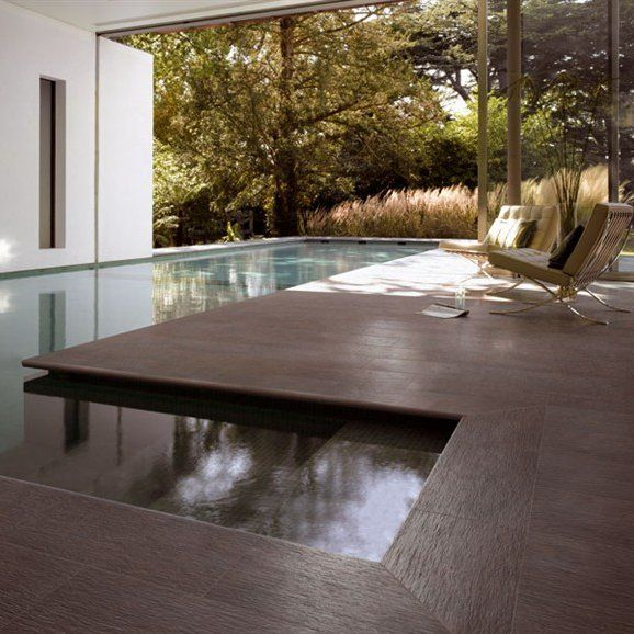 Technical ceramic wall/floor tiles for indoors and outdoors STONE FOREST by GranitiFiandre #pool #stone