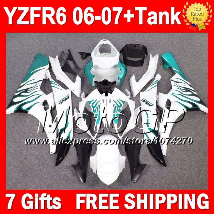 Купить товар7 подарка + тела для YAMAHA YZFR6 голубой пламя 2006 2007 YZF R6 YZF600 P96186 YZF R 6 06 07 YZF 600 голубой белый YZF R6 06 07 обтекателя в категории Щитки и художественная формовкана AliExpress.                              Удостоверение личности aliexpress: MotoGP
