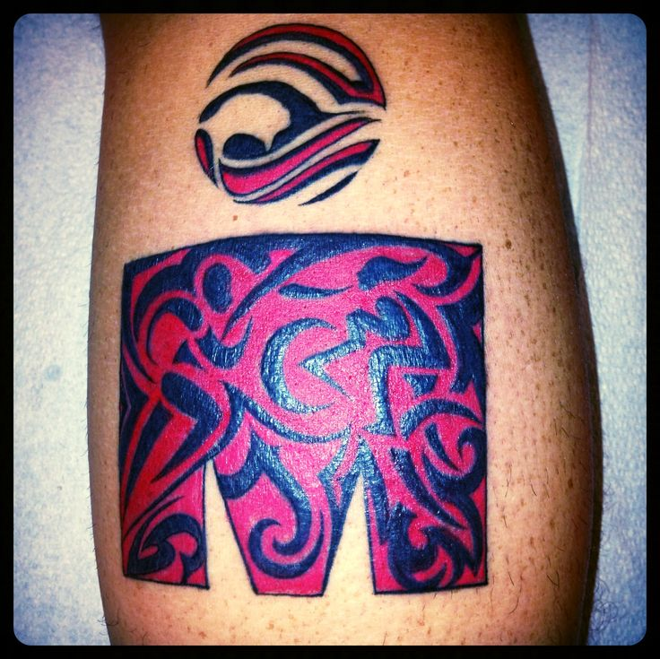 Ironman Tattoo Calf Tribal Triathlon