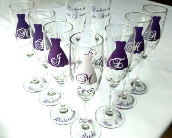 wedding party glasses.
