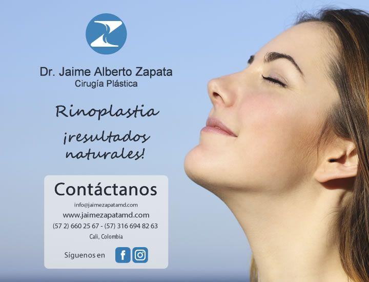 ::: RINOPLASTIA / CIRUGÍA DE NARIZ :::  Ninguna parte de la cara afecta tanto la imagen como la nariz.   Cuando esta es demasiado larga, ancha o grande la nariz domina el rostro y opaca las otras estructuras más bonitas de la cara como los ojos, la boca o el ovalo facial.  Dr. Jaime Alberto Zapata - Cirujano Plástico  Miembro de la SCCP y SBCP.  #rinoplastia #rhinoplasty #nosejob #cirugiaplasticacolombia #plasticsurgerycolombia #plasticsurgery #cirugiaestetica