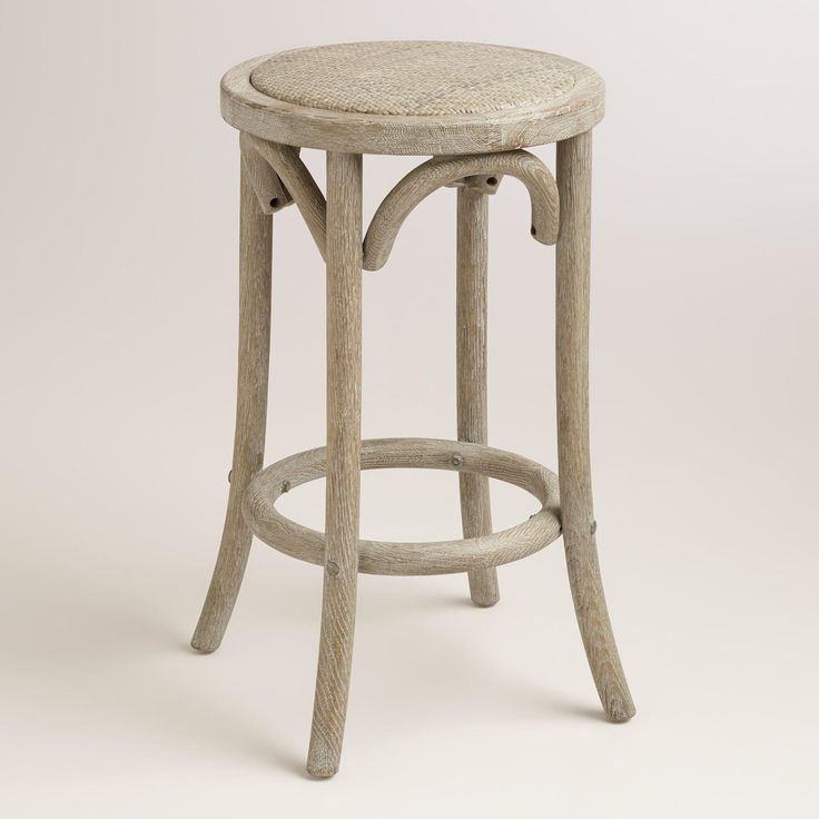 Wood And Rattan Syena Backless Counter Stool Great Pictures