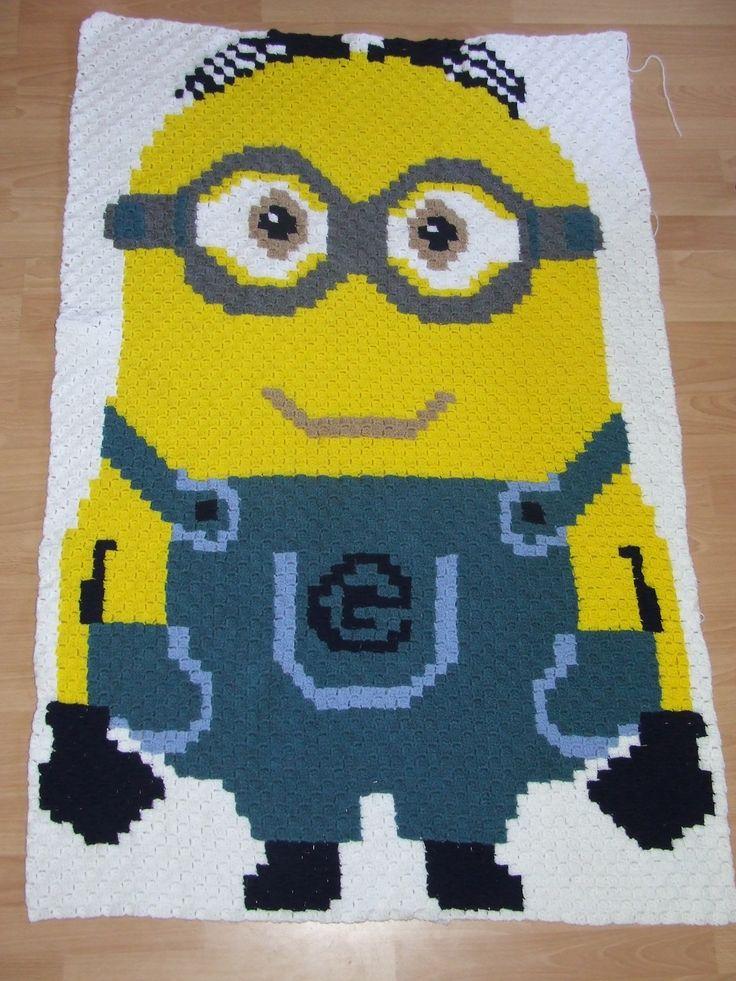 Jippy! Mijn 1ste C2C deken is klaar! 1x1,5m