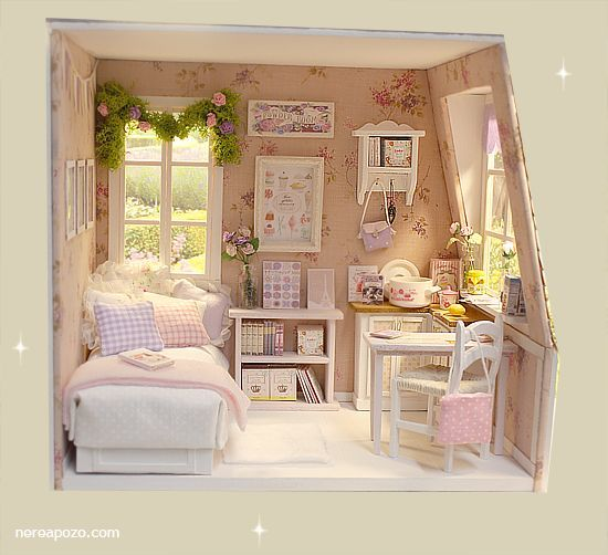 Pin By Anneliese On Bjd Rooms Miniature Furniture Doll