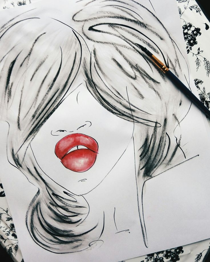 Ink and lipstick...