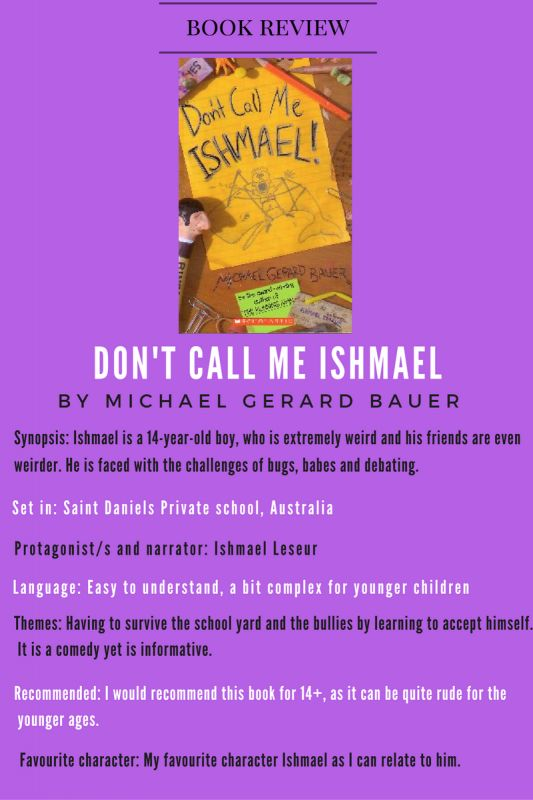 Student Graphic Book Review : Don't Call Me Ishmael