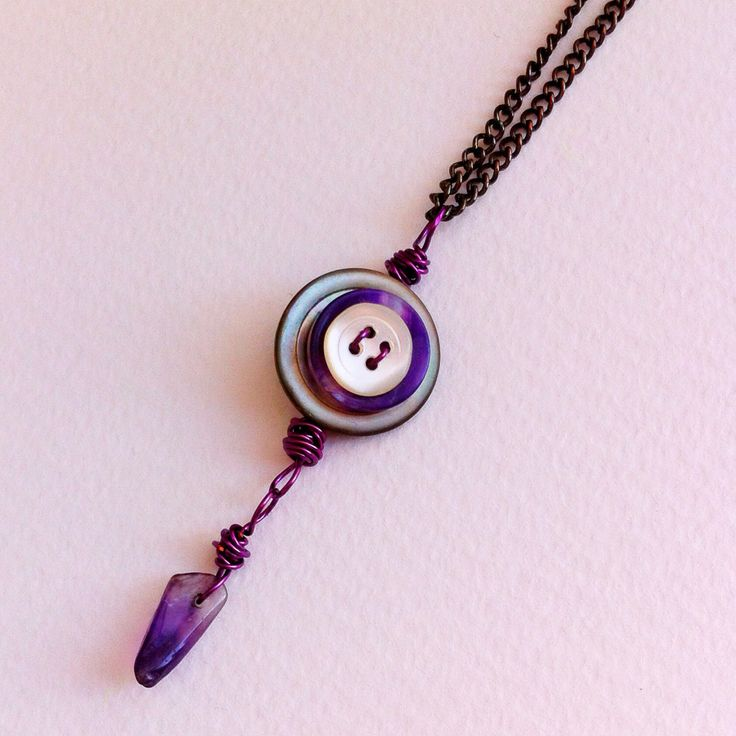 Best Vintage Button Jewelry Ideas Images On Pinterest Button - Bright diy layered button necklace