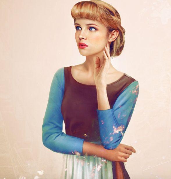 11 x real life Disney Prinsessen getekend als échte vrouwen