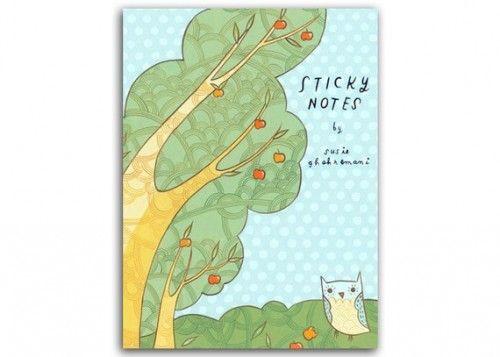 Owl Sticky Notes by Boy Girl Party