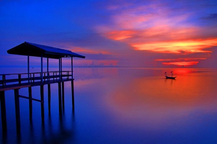 Kenjeran Beach, Surabaya, Indonesia.