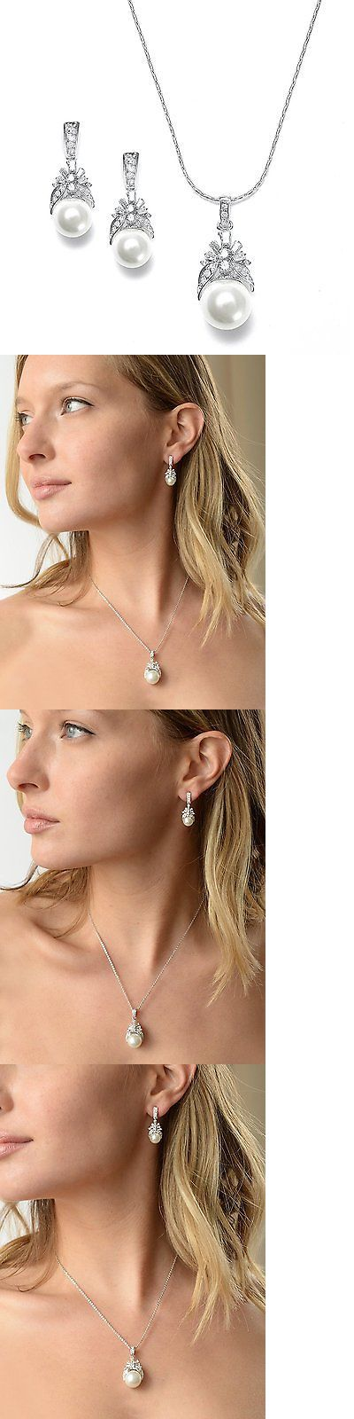 Bridal Jewelry 163552: Mariell Light Cream Pearl Drop Bridal Necklace And Earrings Set With Vintage Cz - -> BUY IT NOW ONLY: $39.03 on eBay!
