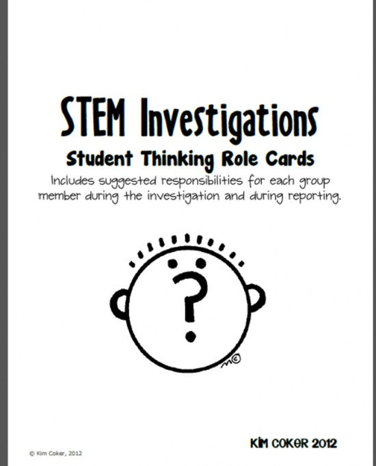 STEM Investigations Student Thinking Role Cards - | Teachers Notebook