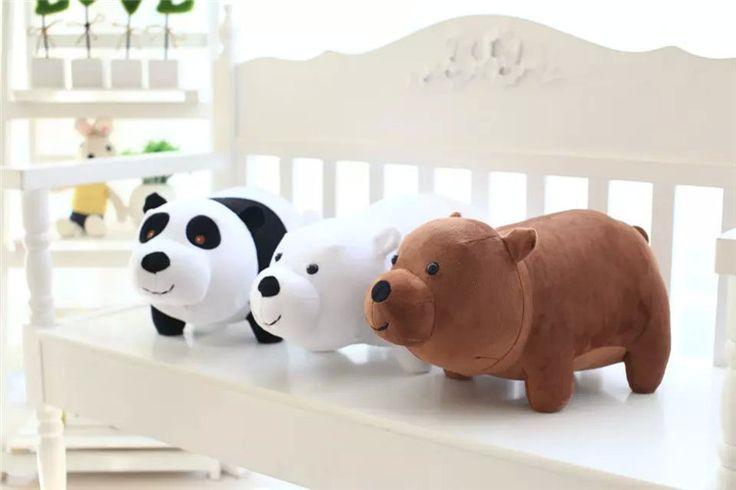 Плюшевые игрушки животных шоу мы голые медведи гризли панда белого медведя мягкие и мягкие игрушки 25 см купить на AliExpress