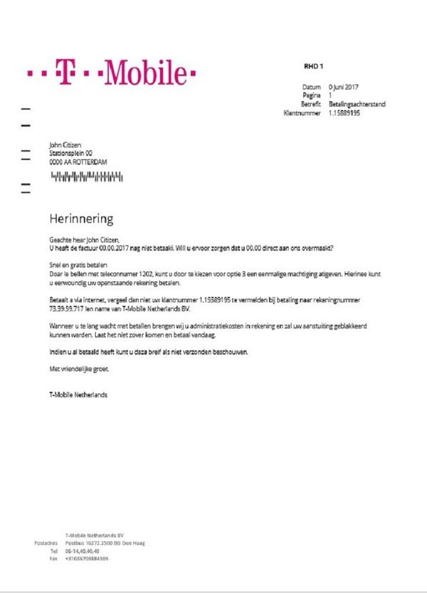 Netherlands T Mobile Bill Template In Word Format Bill Template Templates Words