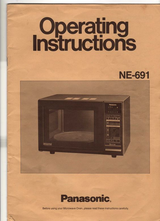 Vintage Operating Instructions Front Cover For The Panasonic Genius Microwave Oven 1984 My Mom Bought Ours At Montgomery Wards