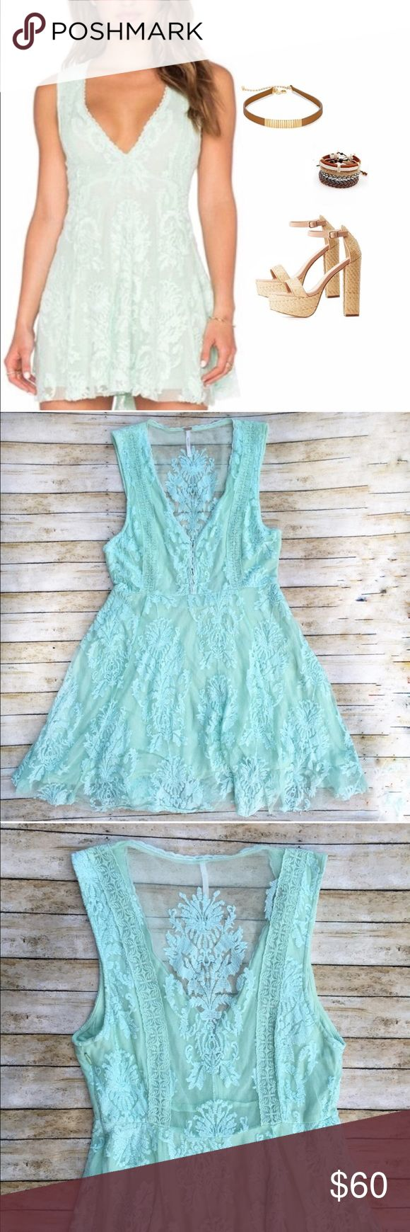 Free People Reign Over Me Mint Lace Dress Free People Reign Over Me Mint Lace Dress. Size 6 Free People Dresses