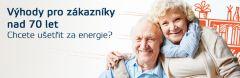 Osobám starším 70 let nabízíme cenové zvýhodnění pro všechna odběrná místa. Cenové zvýhodnění na odběr elektřiny a zemního plynu je určeno zákazníkům VEMEX Energie a. s. z kategorie domácnost.