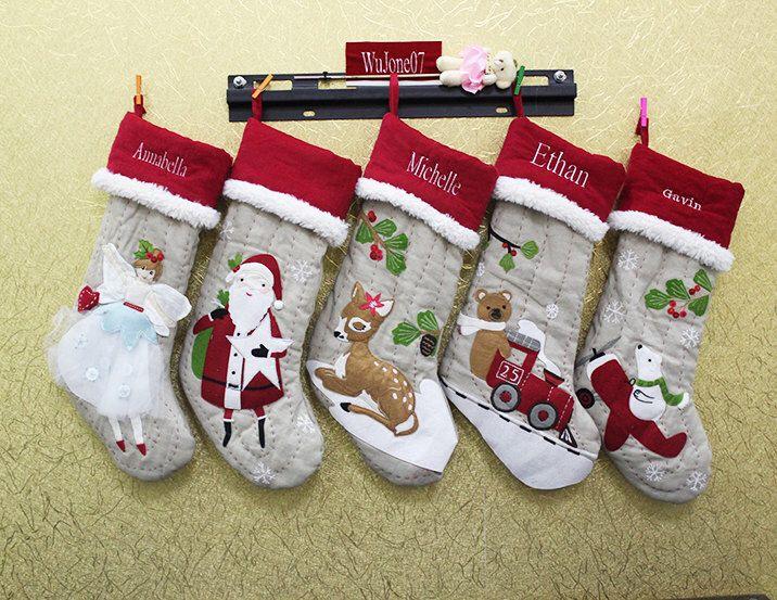 Monogrammed Christmas Stocking Personalized Christmas snowflake Stockings funny Christmas Stockings ornaments by WuJone07 on Etsy https://www.etsy.com/listing/257020594/monogrammed-christmas-stocking