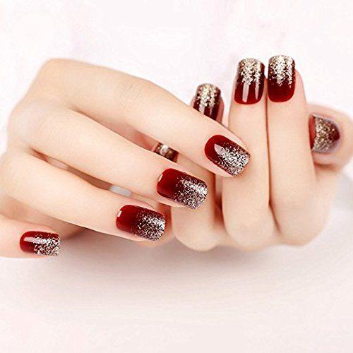 YUNAI Falsche Fingernägel Französische Nagelspitzen Elegante falsche Nägel