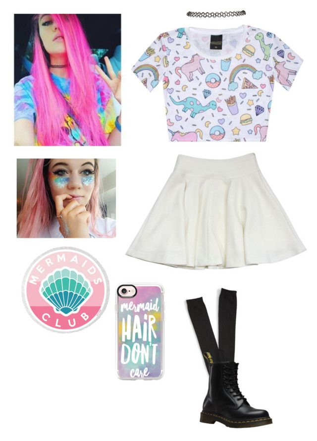 """""""Jessie Paege inspired outfit"""" by tori-is-trash on Polyvore featuring Milly, Aéropostale, Dr. Martens, Wet Seal and Casetify"""