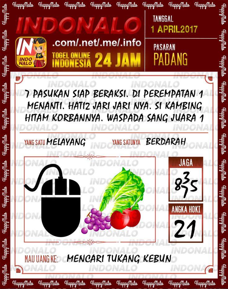 Angka JP 4D Togel Wap Online Indonalo Padang 1 April 2017