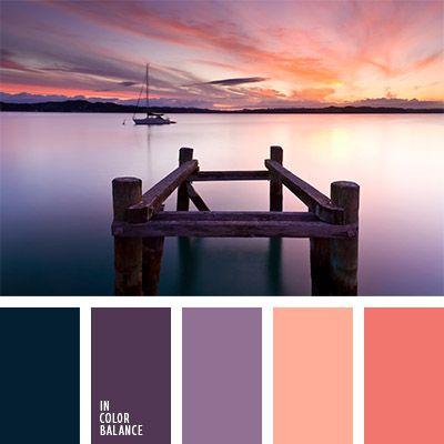 anaranjado, color cerceta, color cielo al atardecer, color coral, color puesta de sol naranja, color verde azulado, colores de la puesta del sol, colores de la puesta del sol sobre un lago, colores vivos, coral, paleta de colores vivos, selección de colores, tonos anaranjados, tonos violetas,
