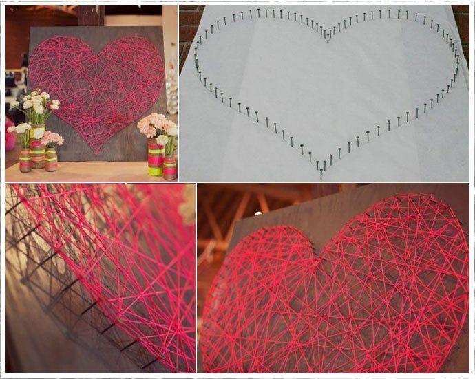 este corazon es:facil de hacer y muy lindooo!!!Le da un look super romantico a tu habitacion,cocina,living o donde lo pongas