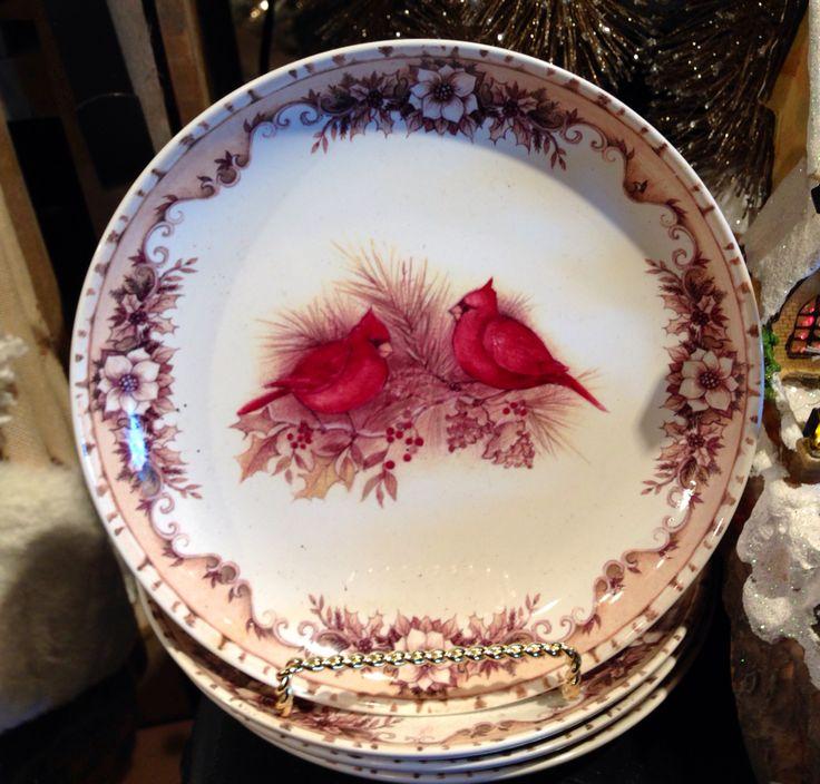 """Red Birds"" Platter/Cracker Barrel Gift Shop"