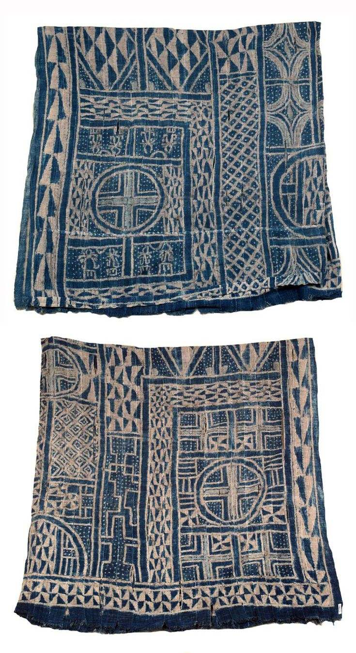 Africa   Wall hanging from the Bamileke people of the Grasslands, Cameroon   Cotton; hand spun. Strip weave, stitched indigo dye resist   ca. 1980