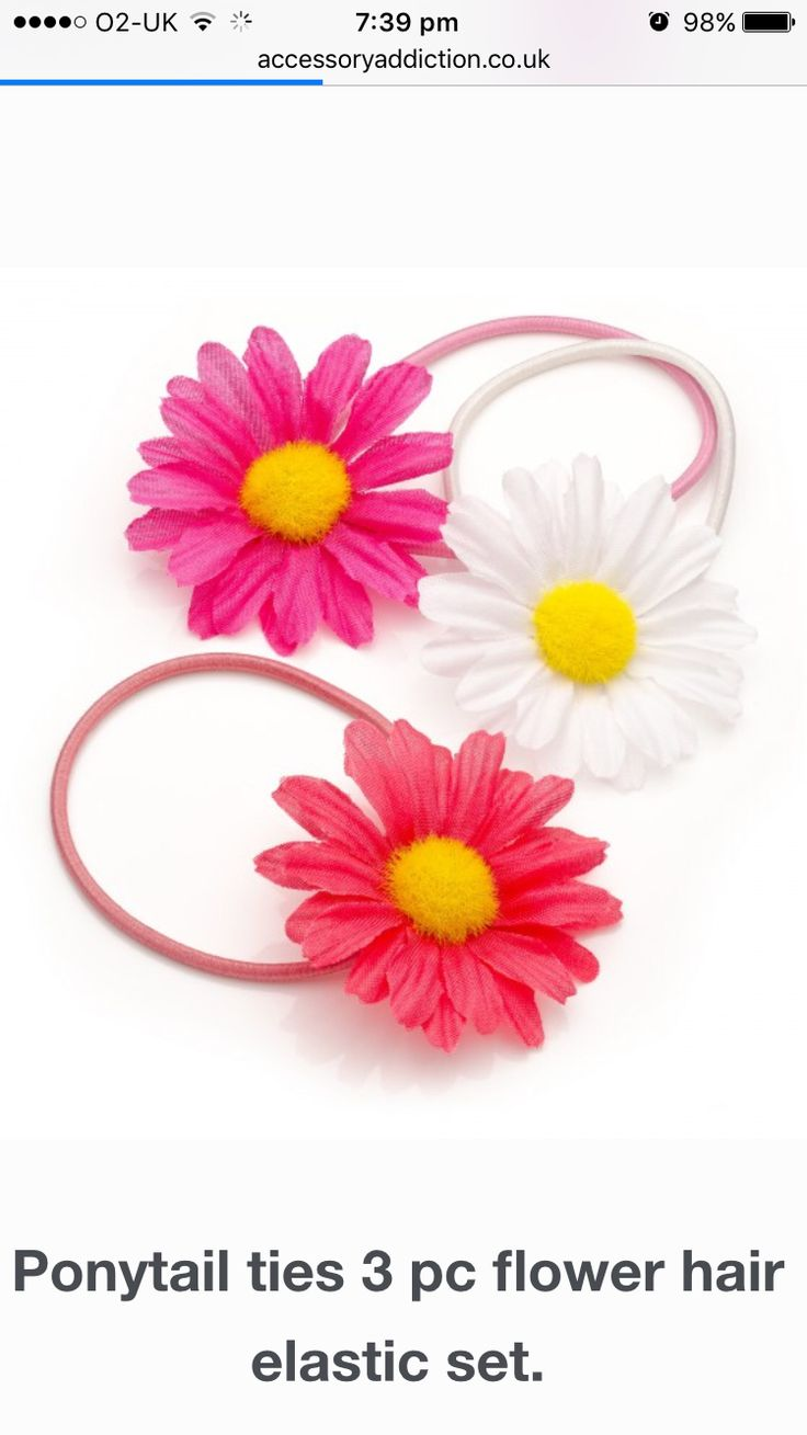 New bright flower bun ties perfect for the summer months. Available on the website Visit online - www.accessoryaddiction.co.uk (No minimum order) plus 10% off