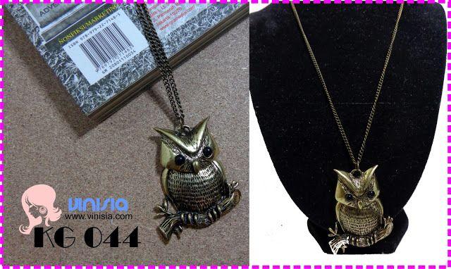 Belanja Aksesoris Wanita Online: [KG 044] kalung burung hantu kecil   085649002325 / 326DB34B  www.vinisia.com