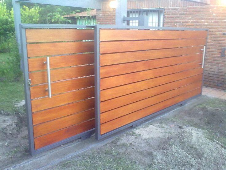 M s de 10 ideas incre bles sobre portones corredizos en - Portones de madera para exterior ...