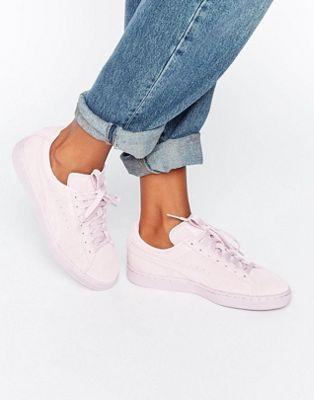 Розовые классические замшевые кроссовки Puma