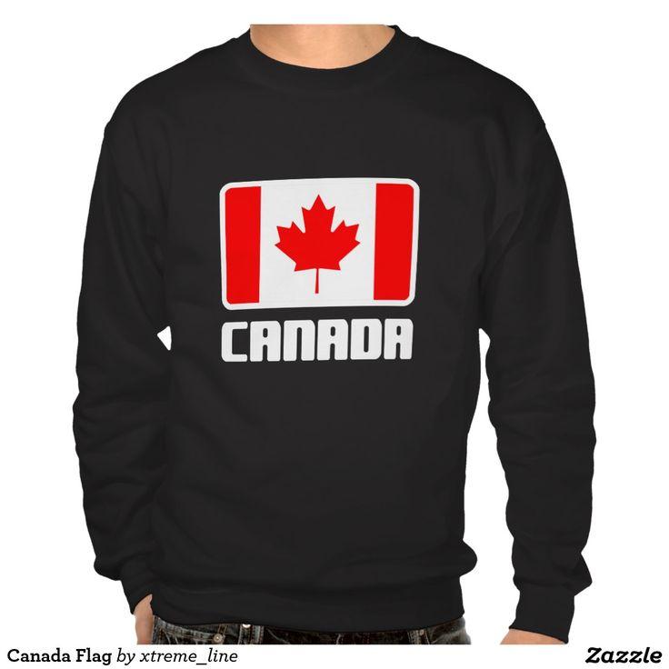 Canada Flag Pullover Sweatshirt.