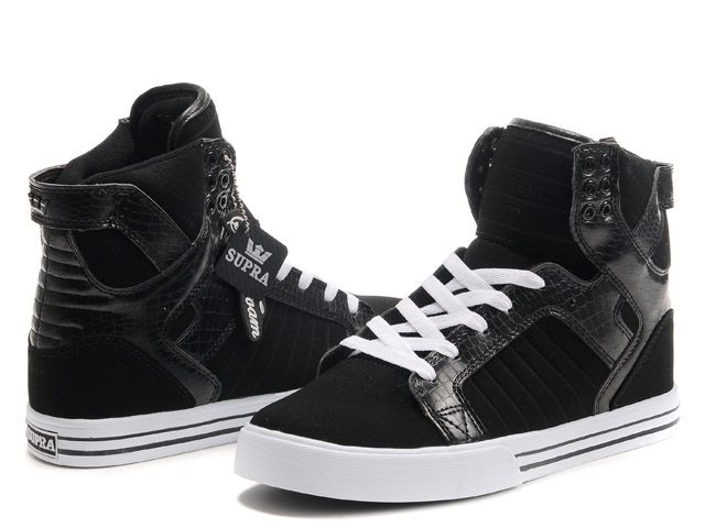 voucher Wholesale prices - Chad Muska Skytop High Top Mens Black/White Shoes  The Supra Shoes, On the net discount Low cost Sales