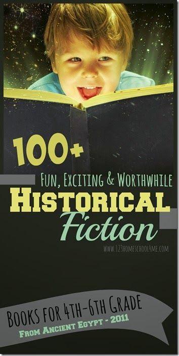 List of 100 historical fiction books for kids K-6