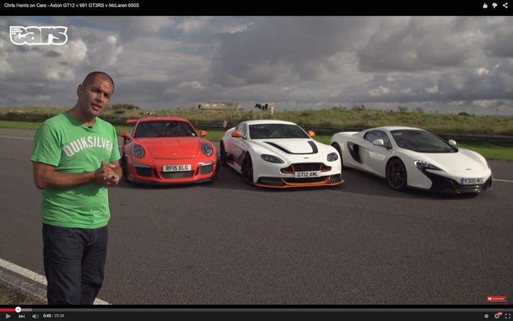 Chris Harris on Cars - Aston GT12 v 991 GT3RS v McLaren 650S