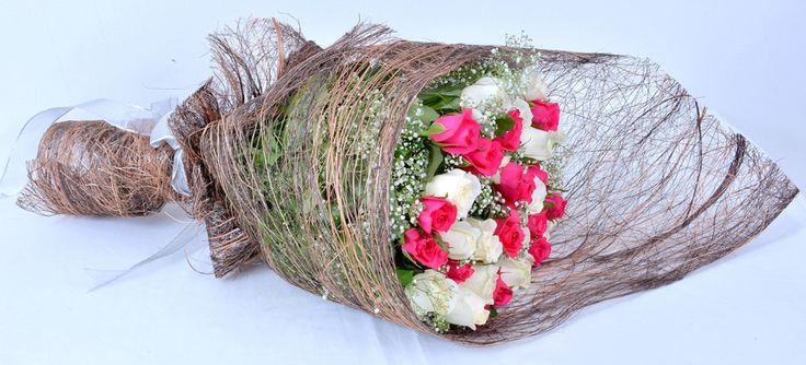 Breathtaking Beauty: A beautiful #handbouquet of #Roses  #FreshFlowers #NotJustFlowers #SameDayDelivery