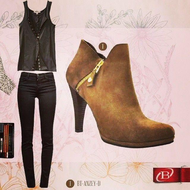 Un gran look para trabajar un sábado #Mujer #women #latina #fashion #moda #shoes #botin #Tshirt #jeans #goodlooking #bucaramanga #cccuartaetapa Bosi