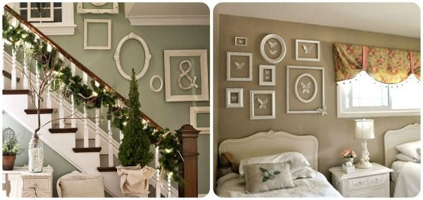 empty picture frame room decorate | Creating Beautiful Collages and Gallery Walls to Fill Empty Spaces