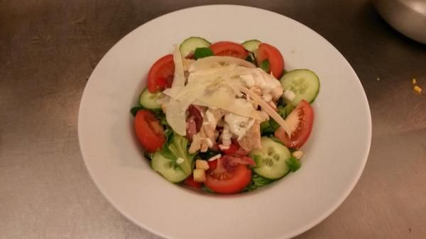 Chicken ceasar salad made by apprentice Tazia Chapman at the stunning Clennel Hall #madebyapprentices @hit_newcdur