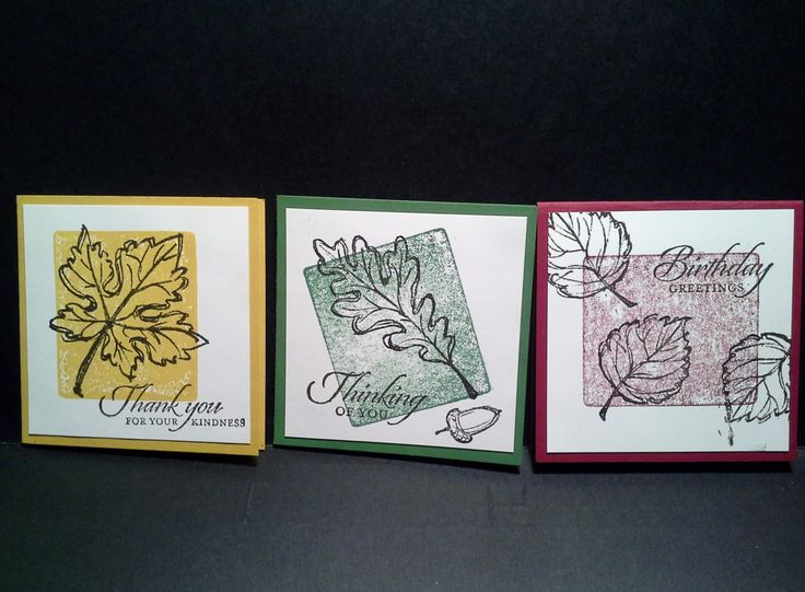 Stampin' Up!- Gently Falling SET 2: A cute little set of 3x3 gift cards.  www.stampin4all.blogspot.com.au