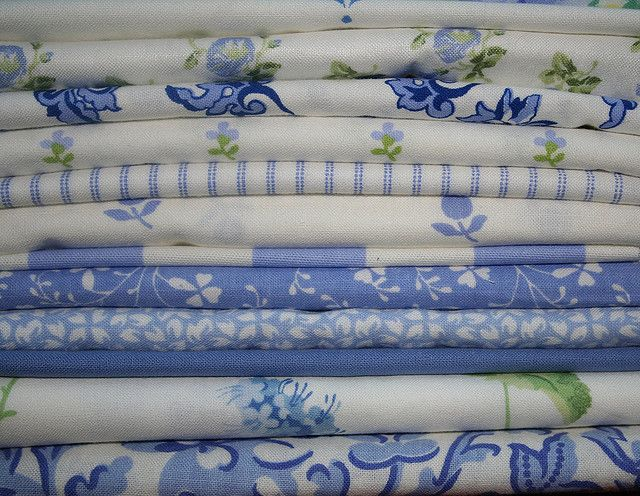 Laura Ashley Vintage Fabrics - blue and white